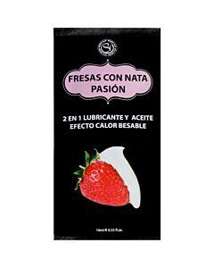 Fragole lubrificanti monodose con crema -10ml