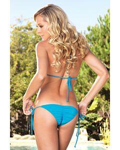 Bikini triangolo avenue gamba con turchese brasiliano increspato